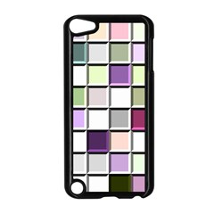 Color Tiles Abstract Mosaic Background Apple Ipod Touch 5 Case (black) by Samandel