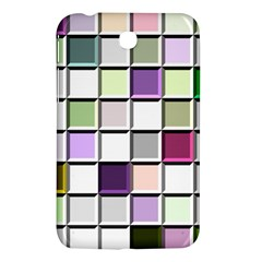Color Tiles Abstract Mosaic Background Samsung Galaxy Tab 3 (7 ) P3200 Hardshell Case