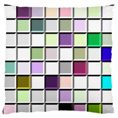 Color Tiles Abstract Mosaic Background Standard Flano Cushion Case (one Side) by Samandel