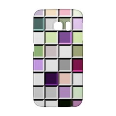 Color Tiles Abstract Mosaic Background Samsung Galaxy S6 Edge Hardshell Case