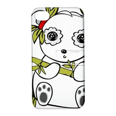 Panda China Chinese Furry Apple Iphone 4/4s Hardshell Case With Stand