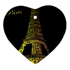 The Eiffel Tower Paris Ornament (heart)