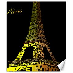 The Eiffel Tower Paris Canvas 20  X 24