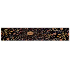 Medieval Flowers On Black Large Flano Scarf  by bloomingvinedesign
