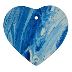 Water Heart Ornament (two Sides)