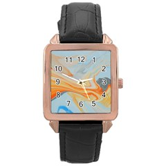 Fire Spear Rose Gold Leather Watch