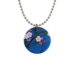 Cherry Blossoms Button Necklace