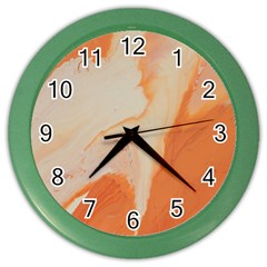 Fire Fall Color Wall Clock by WILLBIRDWELL