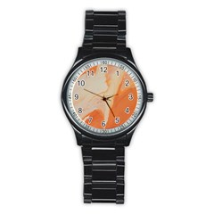 Fire Fall Stainless Steel Round Watch