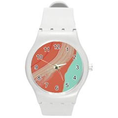 Clay And Water Round Plastic Sport Watch (m)