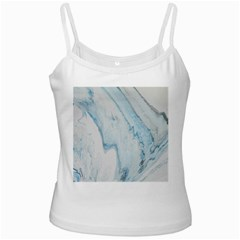 Diamond Mountain White Spaghetti Tank