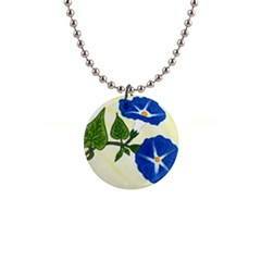 Morning Glories Button Necklace