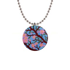 Cherry Blossoms Tree Button Necklaces