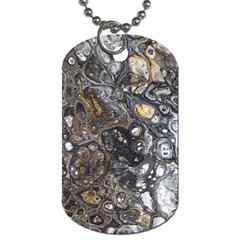 Golden Bubbles Dog Tag (one Side)