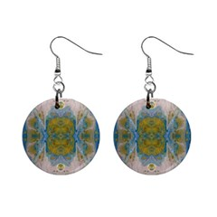 Cosmic Waters Repeat Tile Mini Button Earrings