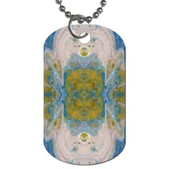 Cosmic Waters Repeat Tile Dog Tag (one Side)