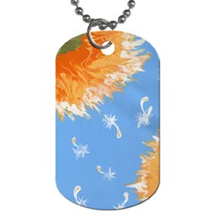 Floating Wishes Dog Tag (one Side)