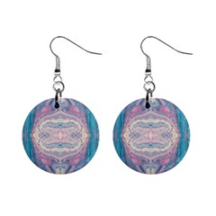 Drop Off Warp Mini Button Earrings
