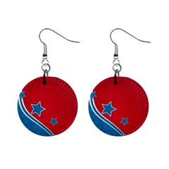 Abstract American Flag Background 23 2147507240 Mini Button Earrings
