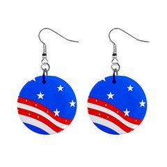 Ameriflag Mini Button Earrings