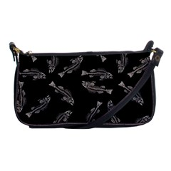 Vintage Fish Skeleton Pattern  Shoulder Clutch Bag