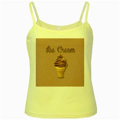 Pop Art Ice Cream Yellow Spaghetti Tank