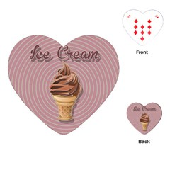 Pop Art Ice Cream Playing Cards (heart) by Valentinaart
