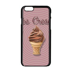 Pop Art Ice Cream Apple Iphone 6/6s Black Enamel Case by Valentinaart