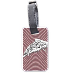 Pop Art Pizza Luggage Tags (one Side)