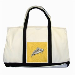 Pop Art Pizza Two Tone Tote Bag by Valentinaart