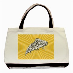 Pop Art Pizza Basic Tote Bag (two Sides) by Valentinaart