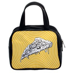 Pop Art Pizza Classic Handbag (two Sides) by Valentinaart
