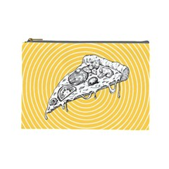 Pop Art Pizza Cosmetic Bag (large) by Valentinaart