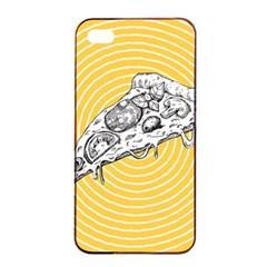 Pop Art Pizza Apple Iphone 4/4s Seamless Case (black) by Valentinaart