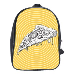 Pop Art Pizza School Bag (large) by Valentinaart