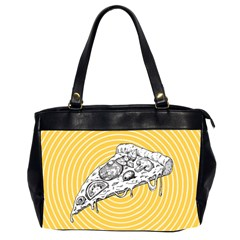 Pop Art Pizza Oversize Office Handbag (2 Sides) by Valentinaart