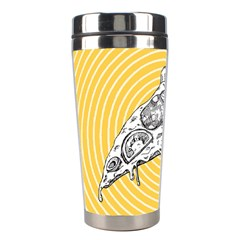 Pop Art Pizza Stainless Steel Travel Tumblers by Valentinaart