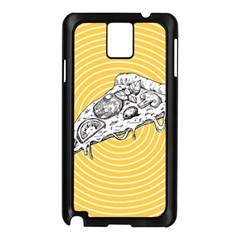 Pop Art Pizza Samsung Galaxy Note 3 N9005 Case (black) by Valentinaart