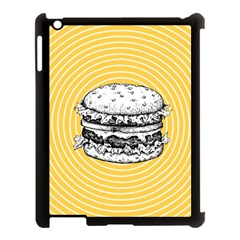 Pop Art Hamburger  Apple Ipad 3/4 Case (black) by Valentinaart