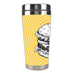 Pop Art Hamburger  Stainless Steel Travel Tumblers by Valentinaart