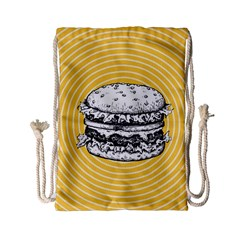 Pop Art Hamburger  Drawstring Bag (small) by Valentinaart