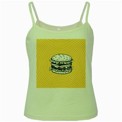 Pop Art Hamburger  Green Spaghetti Tank