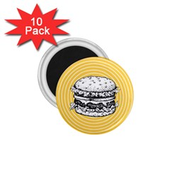 Pop Art Hamburger  1 75  Magnets (10 Pack)  by Valentinaart