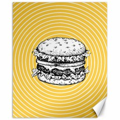Pop Art Hamburger  Canvas 16  X 20  by Valentinaart