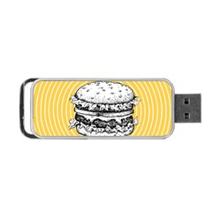 Pop Art Hamburger  Portable Usb Flash (two Sides) by Valentinaart