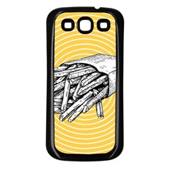 Pop Art French Fries Samsung Galaxy S3 Back Case (black) by Valentinaart