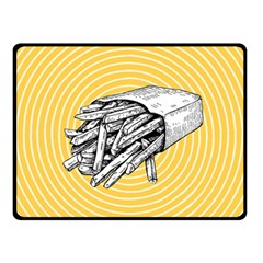Pop Art French Fries Double Sided Fleece Blanket (small)