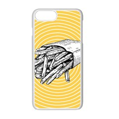 Pop Art French Fries Apple Iphone 7 Plus Seamless Case (white) by Valentinaart