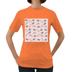Fast Food Pattern Women s Dark T Shirt