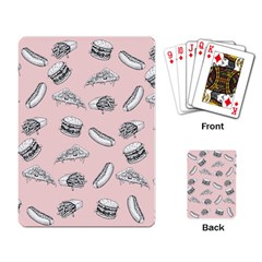 Fast Food Pattern Playing Cards Single Design